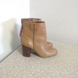 Sam Edelman Fairfield Tan Leather Ankle Booties